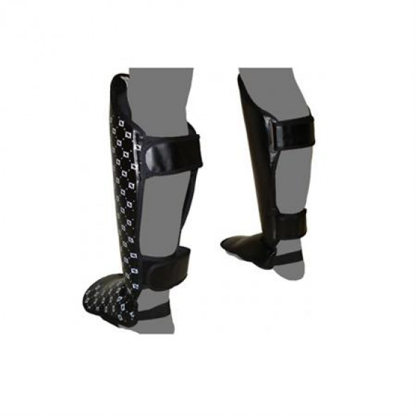 Fairtex Shin guards  leather SP5 Black