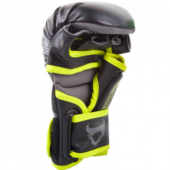 Ringhorns Charger Sparring Gloves - Black/Neo Yellow