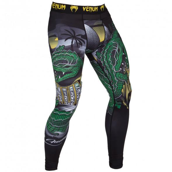 Venum Crocodile Spats - Black/Green