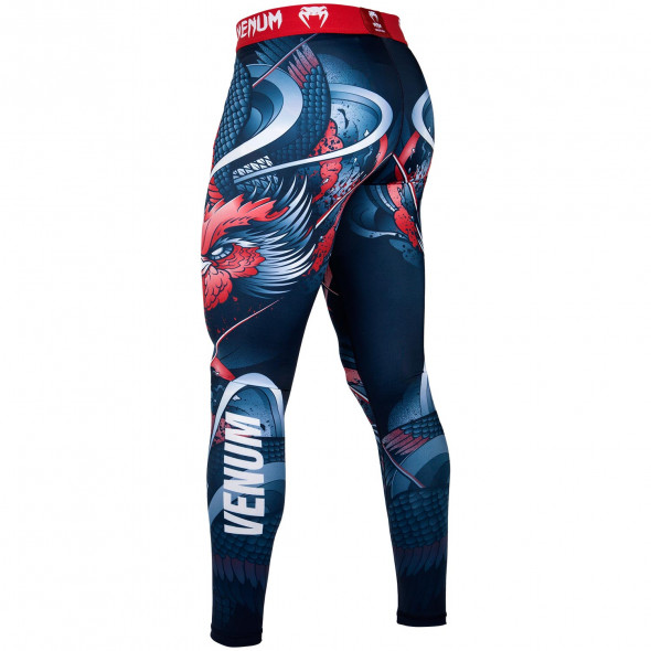 Venum Rooster Spats - Navy Blue/Orange