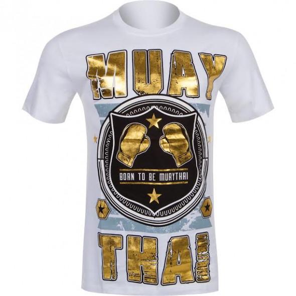 T-shirt Muay Thai Squad blanc - vue de face