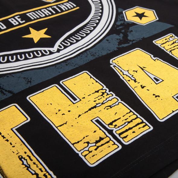T-shirt Muay Thai Squad noir - impression