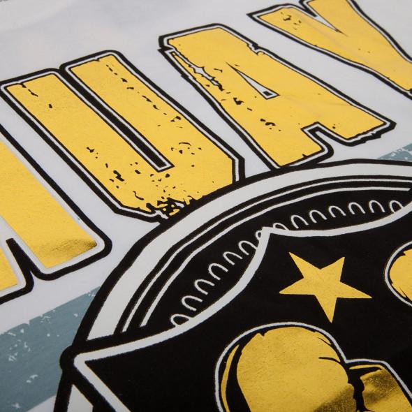 T-shirt Muay Thai Squad blanc - impression