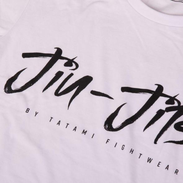 T-Shirt Tatami Fightwear Jiu Jitsu Signature - Blanc
