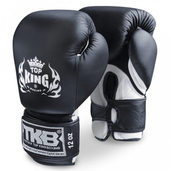 Double Velcro Boxing Gloves Air - Black/White
