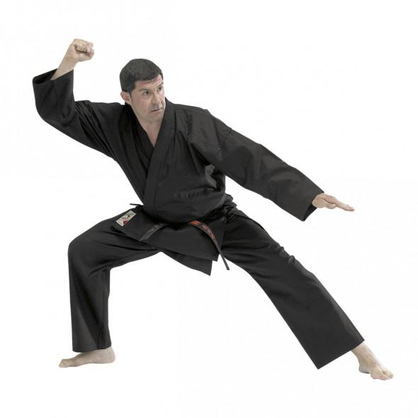Tenue de Kempo Fuji Mae Noir Entraînement Toile Coton