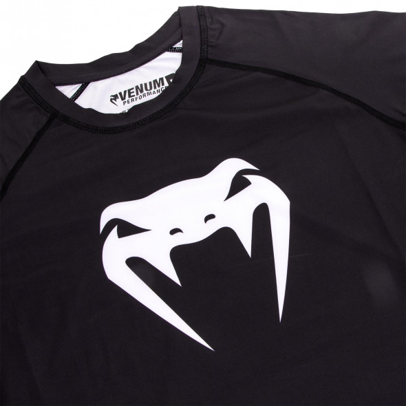 Venum Contender 3.0 Compression T-shirt - Long Sleeves - Black/White