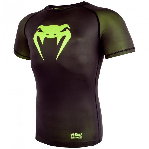 Venum Contender 3.0 Compression T-shirt - Short Sleeves - Black/Neo Yellow