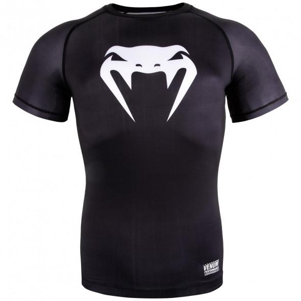 Venum Contender 3.0 Compression T-shirt - Short Sleeves - Black/White