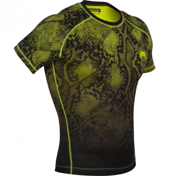 Venum Fusion Compression T-shirt - Short Sleeves - Black/Yellow