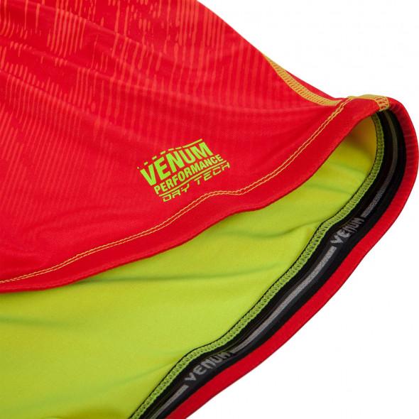 Venum Fusion Compression T-shirt - Long Sleeves - Orange/Yellow