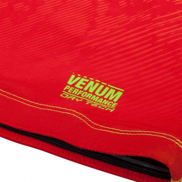 Venum Fusion Compression T-shirt - Short Sleeves - Orange/Yellow