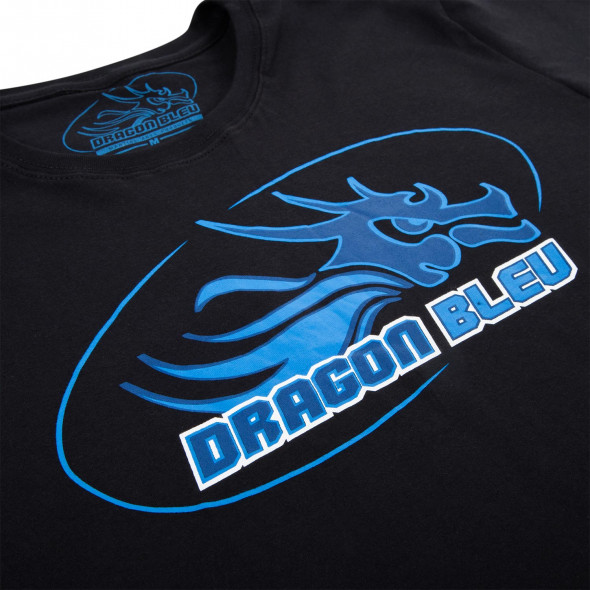 T-shirt Dragon Bleu - Black