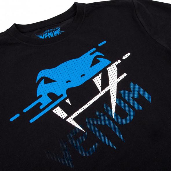Venum Tornado Kids T-shirt - Black/Cyan