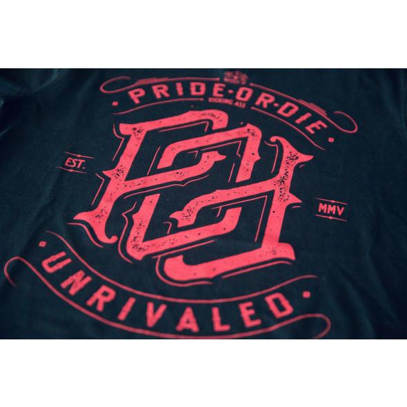 T-shirt Pride or Die Unrivaled - Bleu Marine