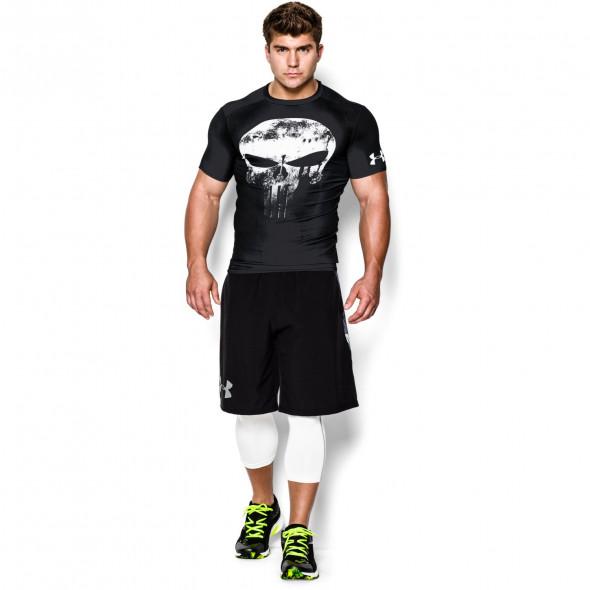 T-shirt Compression Alter Ego Punisher - Black/White