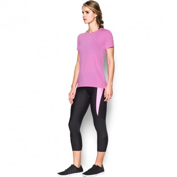 T-shirt Femme UA Heatgear® Armour - Rose