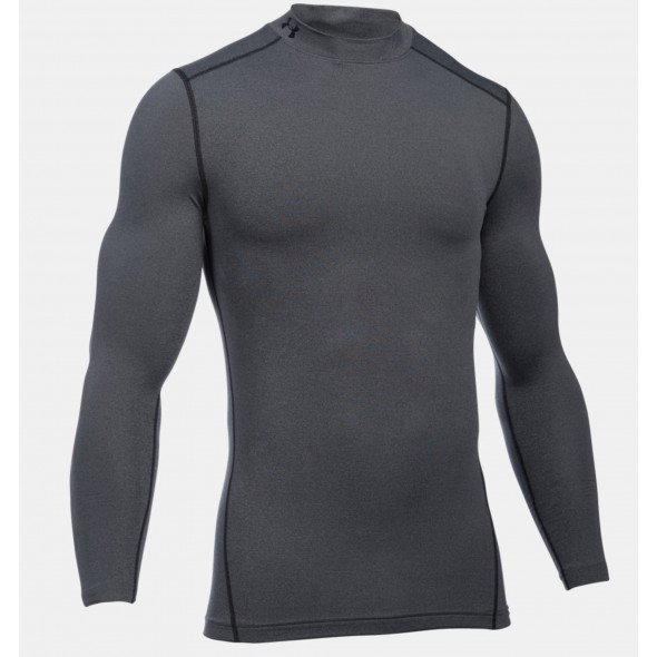 T-shirt de compression Under Armour ColdGear®  Col montant - Gris