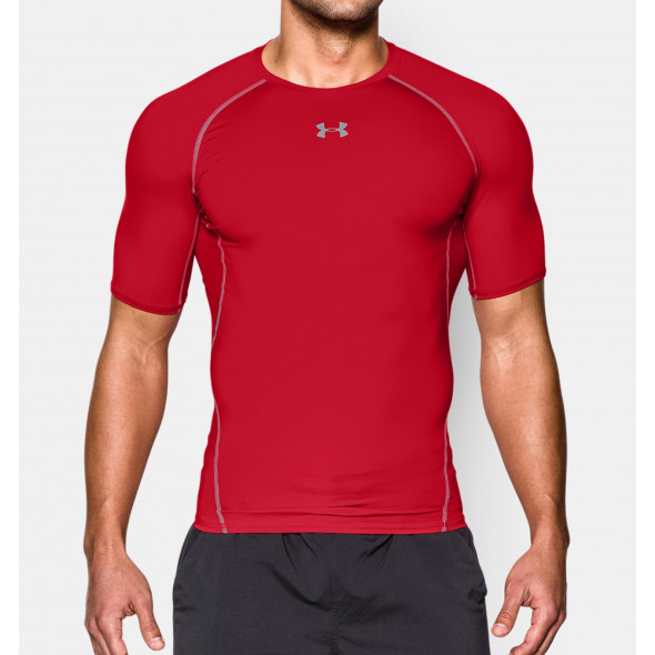 T-shirt Compression Under Armour HeatGear® Armour - Rouge