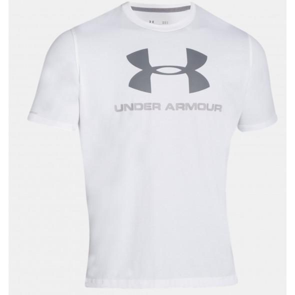 T-shirt Under Armour Sportstyle Logo - Blanc