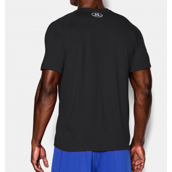 T-Shirt Under Armour Tech™ - Noir Logo Blanc