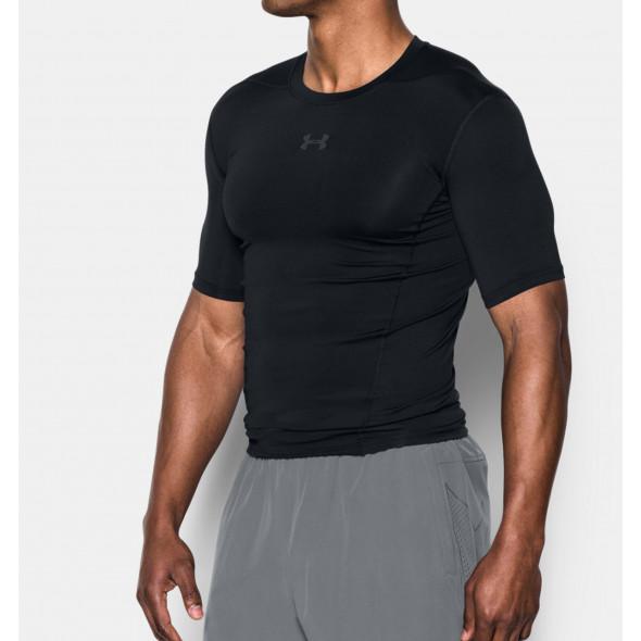 T-shirt Compression Under Armour HeatGear® SuperVent Armour - Noir