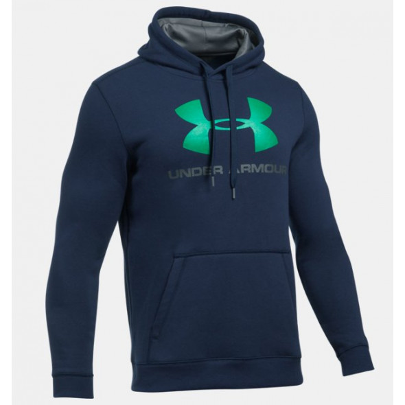 Sweat Under Armour Rival Fitted Graphic - Bleu Marine