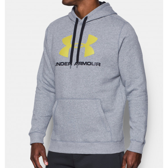 Sweat Under Armour Rival Fitted Graphic - Gris