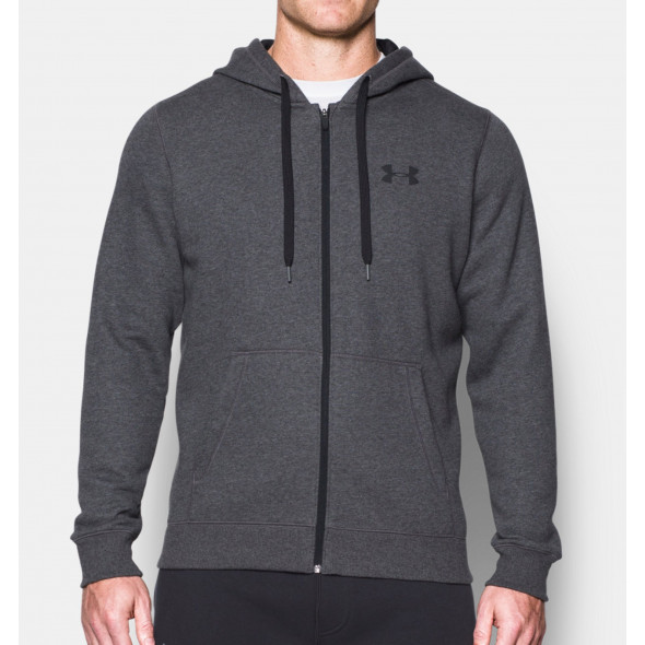 Sweat à capuche Under Armour Rival Fitted - Gris