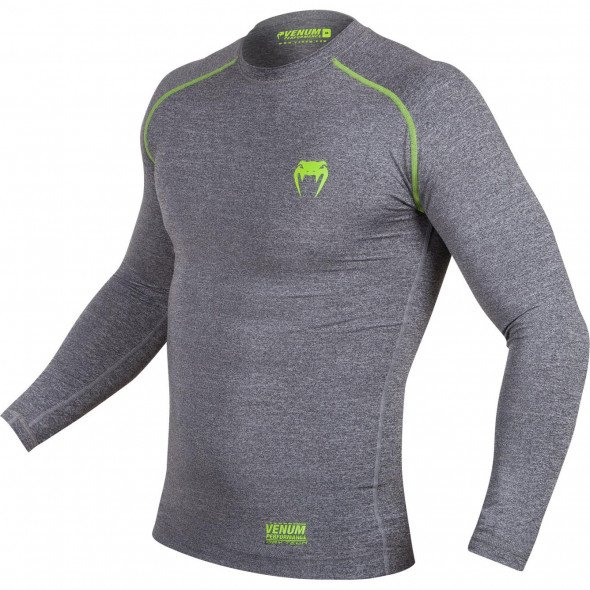 Venum Contender 2.0 Compression T-shirt - Long Sleeves - Heather Grey