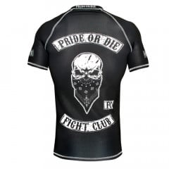 Rashguard Pride or Die Fight Club - Manches courtes - Noir