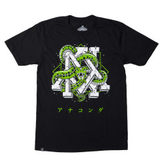 T-shirt Newaza Anaconda - Noir