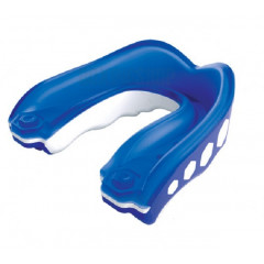 "Simple Mouth guard Shock Doctor ""Gel Max"" - Adult-White/Blue"
