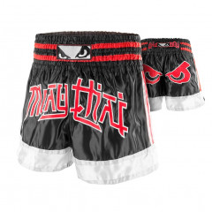 Short Muay Thai Bad Boy Kao Koy - Noir/Rouge