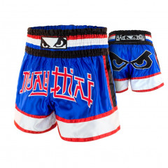 Short Muay Thai Bad Boy Kao Koy - Bleu/Rouge