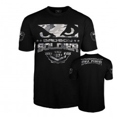 T-shirt Bad Boy Soldier - Noir/Gris