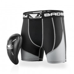Short de compression + coquille Bad Boy Full Guard