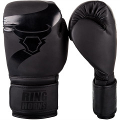 Ringhorns Charger Boxing Gloves - Black/Black
