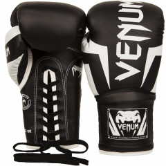 Venum Elite Boxing Gloves - With laces - Black