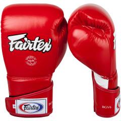 "Fairtex Boxing Gloves ""FXV6"" - Red"