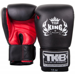 Gants de boxe Top King Super Air - Noir/Rouge