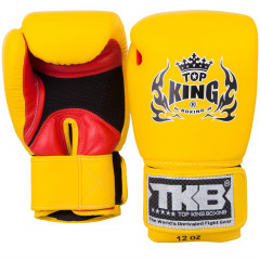 Gants de boxe Top King Super Air - Jaune/Rouge