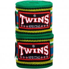 Bandes de boxe Twins Coton Premium - 5M-Green (005)