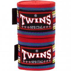 Bandes de boxe Twins Coton Premium - 5M-Red (003)