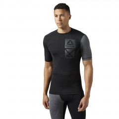 T-shirt de compression Reebok ACTVCHL Graphic - Manches courtes - Noir