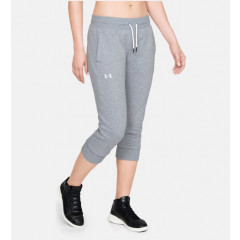 Corsaire Femme Under Armour Fleece Slim Leg - Gris