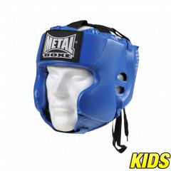 Casque Multiboxe Enfant Metal Boxe - Bleu