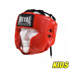 Casque Multiboxe Enfant Metal Boxe - Rouge