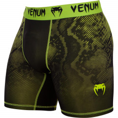 Venum Fusion Compression Shorts - Black/Yellow