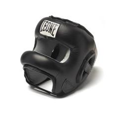 Casque de boxe avec barre Leone Protection - Noir